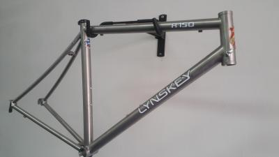 Lynskey R150 frame with mill finish, white decal