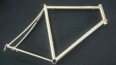 Lynskey R265 frame with mill finish, white decal